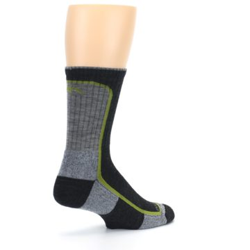 Image of Charcoal Lime Men's Wool Hiking Socks (side-1-back-22)