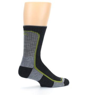 Image of Charcoal Lime Men's Wool Hiking Socks (side-1-23)