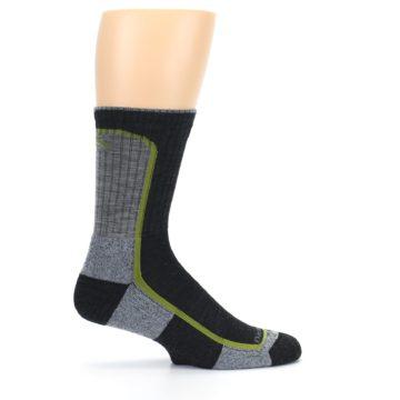 Image of Charcoal Lime Men's Wool Hiking Socks (side-1-24)
