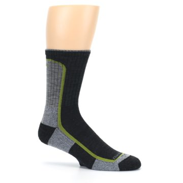Image of Charcoal Lime Men's Wool Hiking Socks (side-1-25)