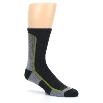Image of Charcoal Lime Men's Wool Hiking Socks (side-1-26)