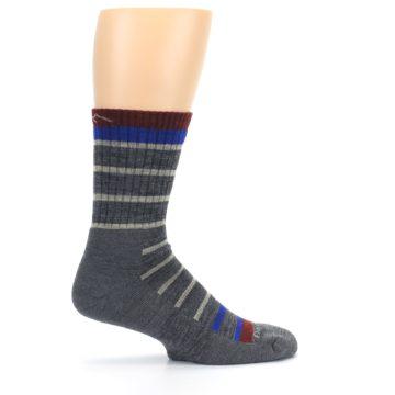 Image of Gray Cream Men's Wool Hiking Crew Socks (side-1-24)