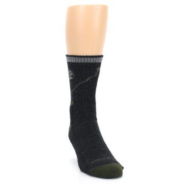 Image of Charcoal Green Appalachian Trail Men's Wool Hiking Socks (side-1-front-03)