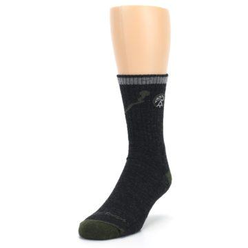 Image of Charcoal Green Appalachian Trail Men's Wool Hiking Socks (side-2-front-07)