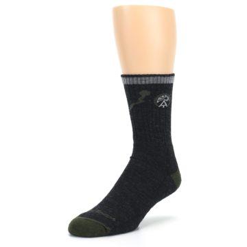 Image of Charcoal Green Appalachian Trail Men's Wool Hiking Socks (side-2-front-08)