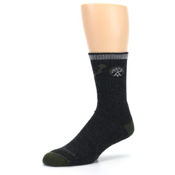 Image of Charcoal Green Appalachian Trail Men's Wool Hiking Socks (side-2-09)