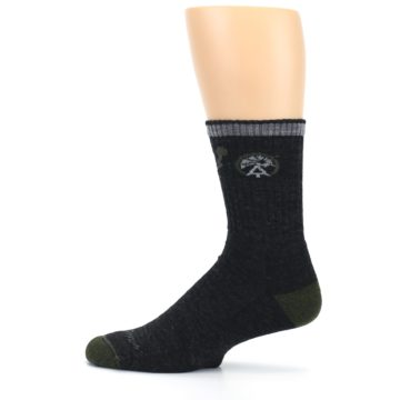 Image of Charcoal Green Appalachian Trail Men's Wool Hiking Socks (side-2-12)