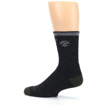 Image of Charcoal Green Appalachian Trail Men's Wool Hiking Socks (side-2-13)