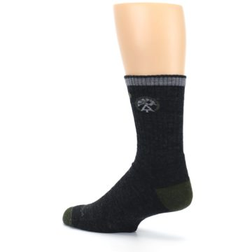 Image of Charcoal Green Appalachian Trail Men's Wool Hiking Socks (side-2-back-14)