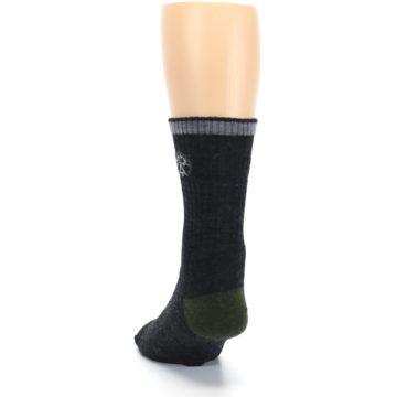 Image of Charcoal Green Appalachian Trail Men's Wool Hiking Socks (back-17)
