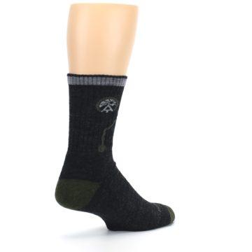 Image of Charcoal Green Appalachian Trail Men's Wool Hiking Socks (side-1-back-22)