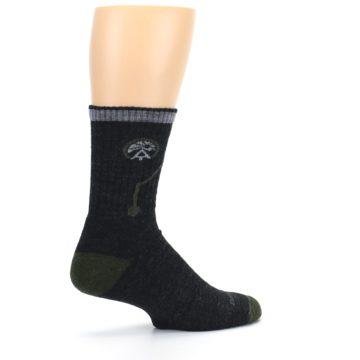 Image of Charcoal Green Appalachian Trail Men's Wool Hiking Socks (side-1-23)