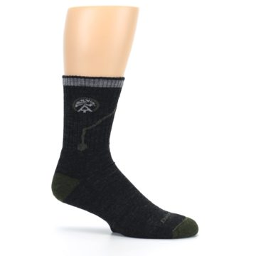 Image of Charcoal Green Appalachian Trail Men's Wool Hiking Socks (side-1-25)