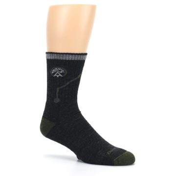 Image of Charcoal Green Appalachian Trail Men's Wool Hiking Socks (side-1-26)