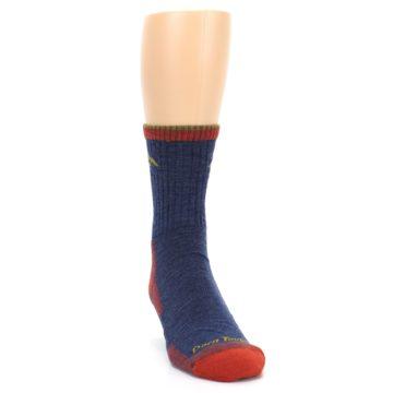 Image of Denim Blue Red Men's Wool Hiking Socks (side-1-front-03)