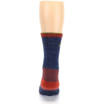 Image of Denim Blue Red Men's Wool Hiking Socks (back-18)