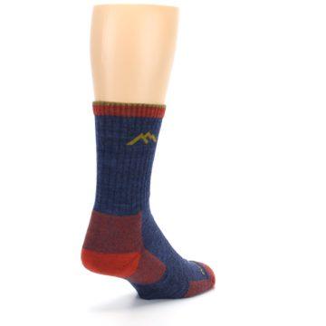 Image of Denim Blue Red Men's Wool Hiking Socks (side-1-back-21)