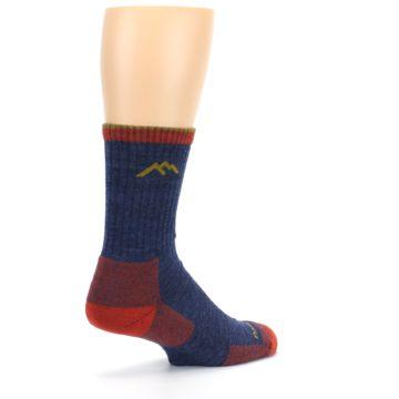 Image of Denim Blue Red Men's Wool Hiking Socks (side-1-back-22)