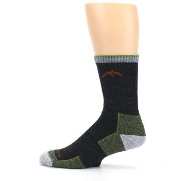 Image of Lime Dark Green Men's Wool Hiking Socks (side-2-12)
