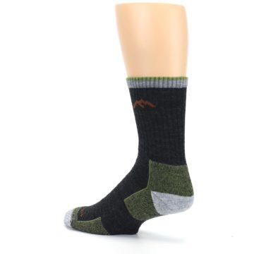 Image of Lime Dark Green Men's Wool Hiking Socks (side-2-back-14)