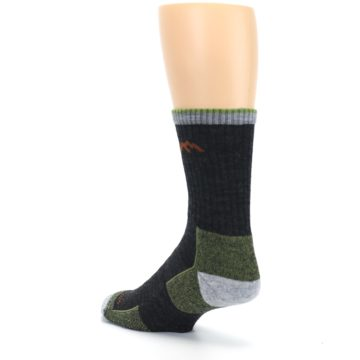 Image of Lime Dark Green Men's Wool Hiking Socks (side-2-back-15)