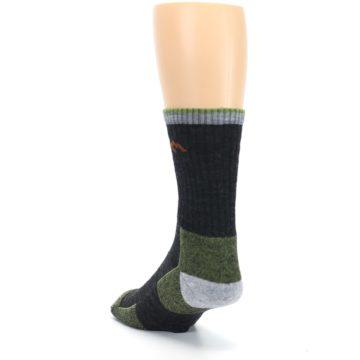 Image of Lime Dark Green Men's Wool Hiking Socks (side-2-back-16)