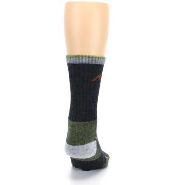 Image of Lime Dark Green Men's Wool Hiking Socks (back-19)
