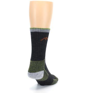 Image of Lime Dark Green Men's Wool Hiking Socks (side-1-back-20)