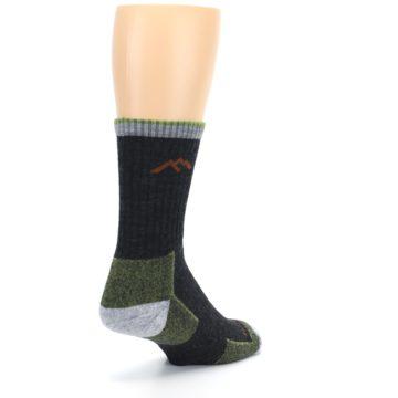 Image of Lime Dark Green Men's Wool Hiking Socks (side-1-back-21)