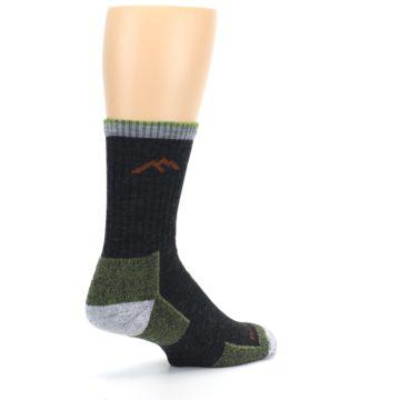 Image of Lime Dark Green Men's Wool Hiking Socks (side-1-back-22)