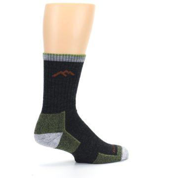 Image of Lime Dark Green Men's Wool Hiking Socks (side-1-23)
