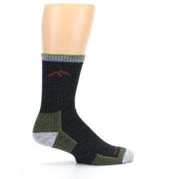 Image of Lime Dark Green Men's Wool Hiking Socks (side-1-24)