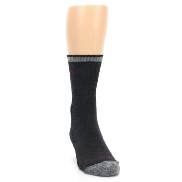 Image of Black Gray Men's Wool Hiking Socks (side-1-front-03)