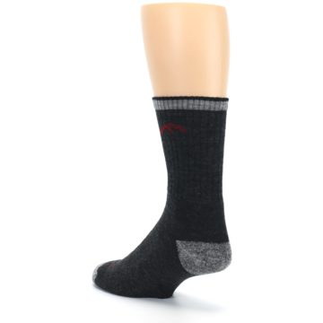 Image of Black Gray Men's Wool Hiking Socks (side-2-back-15)