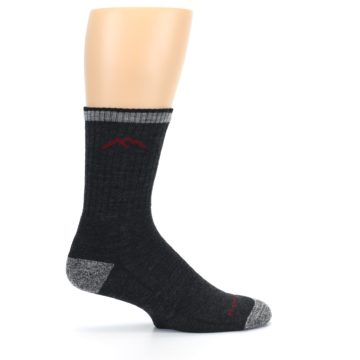 Image of Black Gray Men's Wool Hiking Socks (side-1-24)