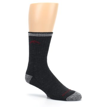 Image of Black Gray Men's Wool Hiking Socks (side-1-26)