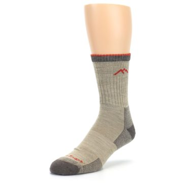 Image of Oatmeal Men's Hiking Socks (side-2-front-08)