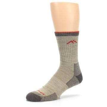 Image of Oatmeal Men's Hiking Socks (side-2-09)