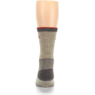 Image of Oatmeal Men's Hiking Socks (back-18)