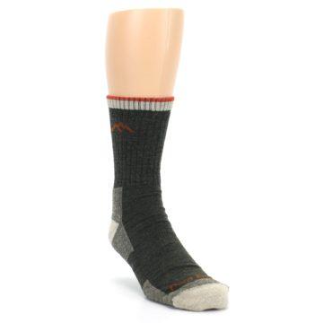 Image of Olive Men's Wool Hiking Socks (side-1-front-02)