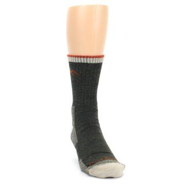 Image of Olive Men's Wool Hiking Socks (side-1-front-03)