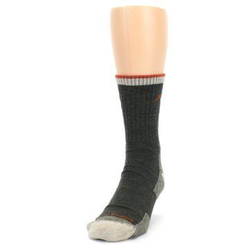 Image of Olive Men's Wool Hiking Socks (side-2-front-06)
