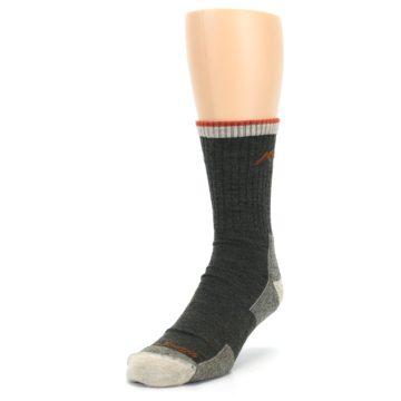 Image of Olive Men's Wool Hiking Socks (side-2-front-07)