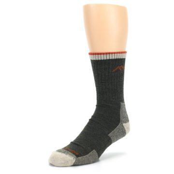 Image of Olive Men's Wool Hiking Socks (side-2-front-08)