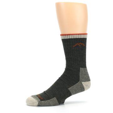 Image of Olive Men's Wool Hiking Socks (side-2-10)