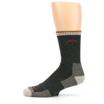 Image of Olive Men's Wool Hiking Socks (side-2-11)