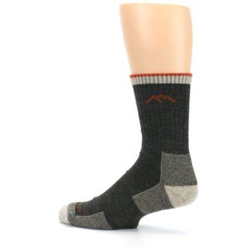 Image of Olive Men's Wool Hiking Socks (side-2-13)