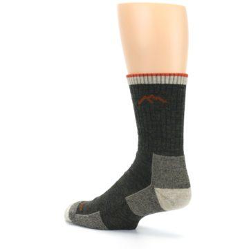 Image of Olive Men's Wool Hiking Socks (side-2-back-14)