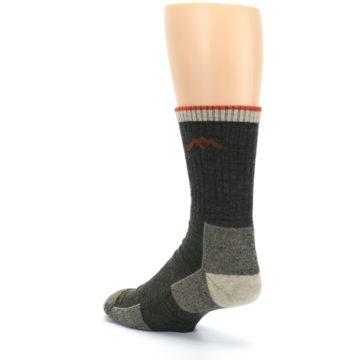 Image of Olive Men's Wool Hiking Socks (side-2-back-15)