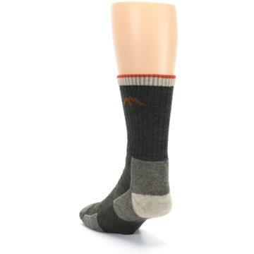 Image of Olive Men's Wool Hiking Socks (side-2-back-16)